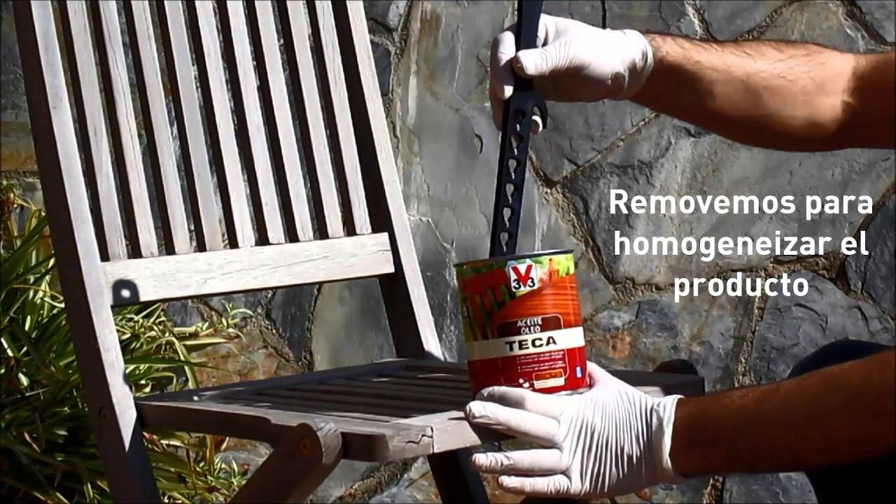 C mo aplicar aceite teca v33 doovi - Aceite para madera exterior ...