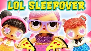 LOL Surprise Doll Sleepover Hosted by Super BB! Featuring Teachers Pet and Hoops!
