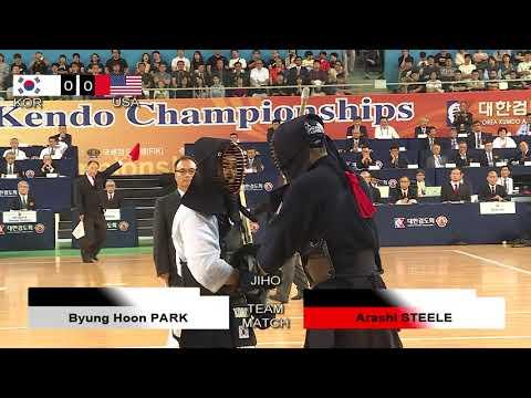 17th World Kendo Championships Men's TEAM MATCH 5ch Russian Korea Vs United States Of America