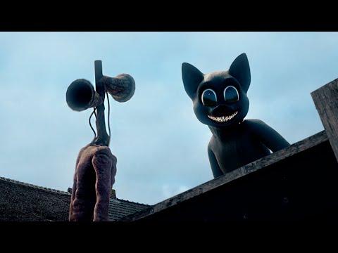 Siren Head vs Cartoon Cat