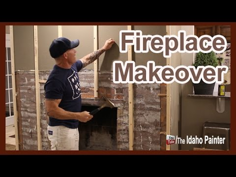 Fast Fireplace Makeover Fireplace To Weathered Wood.