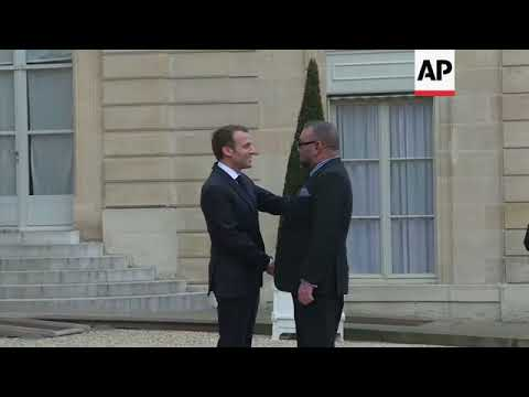 King Mohammed of Morocco meets French President