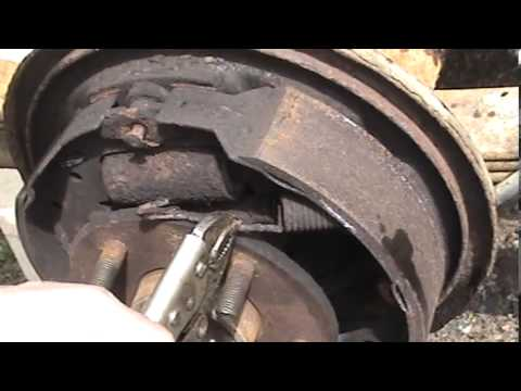 2001 chevy s10 4 3l (2wd) rear brake replacement - part 1 of 2