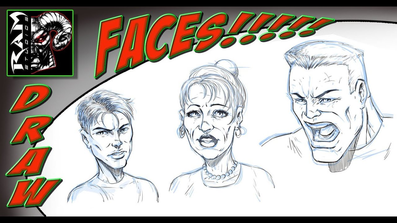 drawing comic book faces various characters youtube