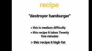 Destroyer hamburger