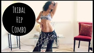Belly dance tribal combination: the hip combination