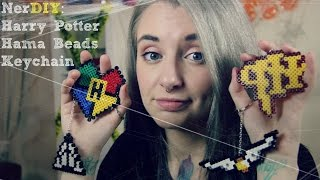 Harry Potter Perler Beads Keychains - NerDIY