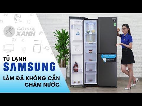 Tủ Lạnh Samsung: 3 Cửa, Làm đá Tự động Không Cần Châm Nước (RS65R5691B4/SV)