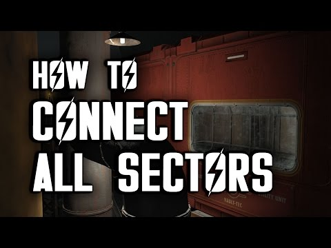 How to Connect All Sectors in Vault 88 - Vault-tec Workshop - Fallout 4