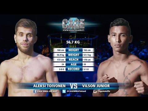 CAGE 37: Aleksi Toivonen vs Vilson Junior Full Fight MMA
