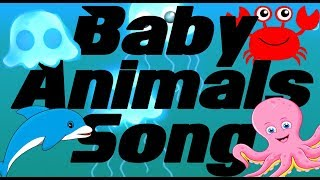 Animals in the Ocean Kids Rhymes - Learn Animals Baby Song