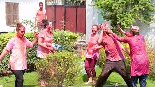Holi Celebration, 2014 - International Travellers' Hostel, Varanasi, India