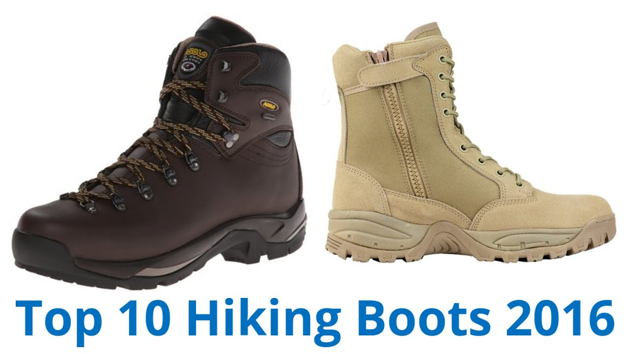 10 Best Hiking Boots 2016 - YouTube