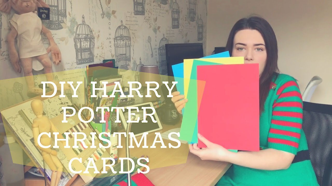DIY Harry Potter Christmas Cards - YouTube
