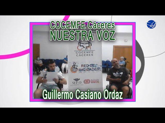 COCEMFE Nuestra Voz - Guillermo Casiano Ordaz