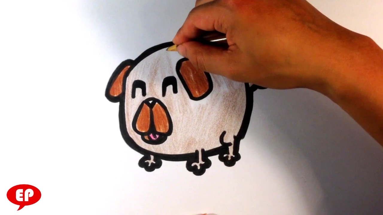 How To Draw A Pug Cute Easy Pictures To Draw Now
