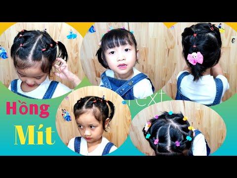 3 Mẫu Tóc Đẹp Cho Bé Gái Tóc Ngắn | Tết Tóc đẹp đi học cho bé gái | Cute Little Girls Hair #143