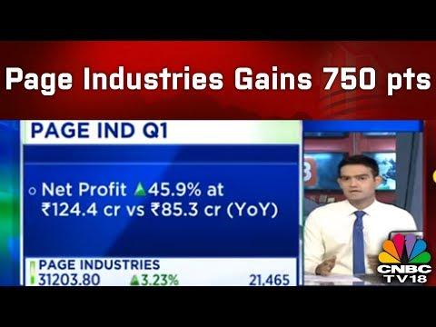 Page Industries Gains 750 pts Post Phenomenal Q1 Results |  #1QWithCNBCTV18