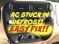 How to fix Ford AC defrost only - Vacuum leak - vent bypass