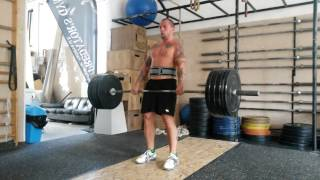 Hang clean & push press 100 kg