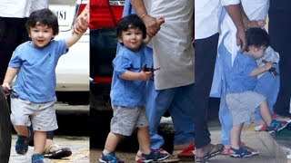 Taimur Flashes Brightest Smile At Paparazzi, SPOTTED Outside Karisma Kapoor House