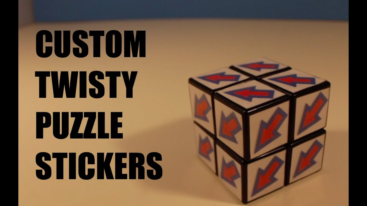 How to make custom rubiks cube stickers