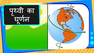 Science - Universe - Rotation of Earth - Hindi