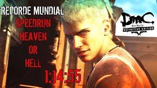 #DmC: Devil May Cry DE - #Speedrun Heaven or Hell 1:14:55 RECORDE #MUNDIAL
