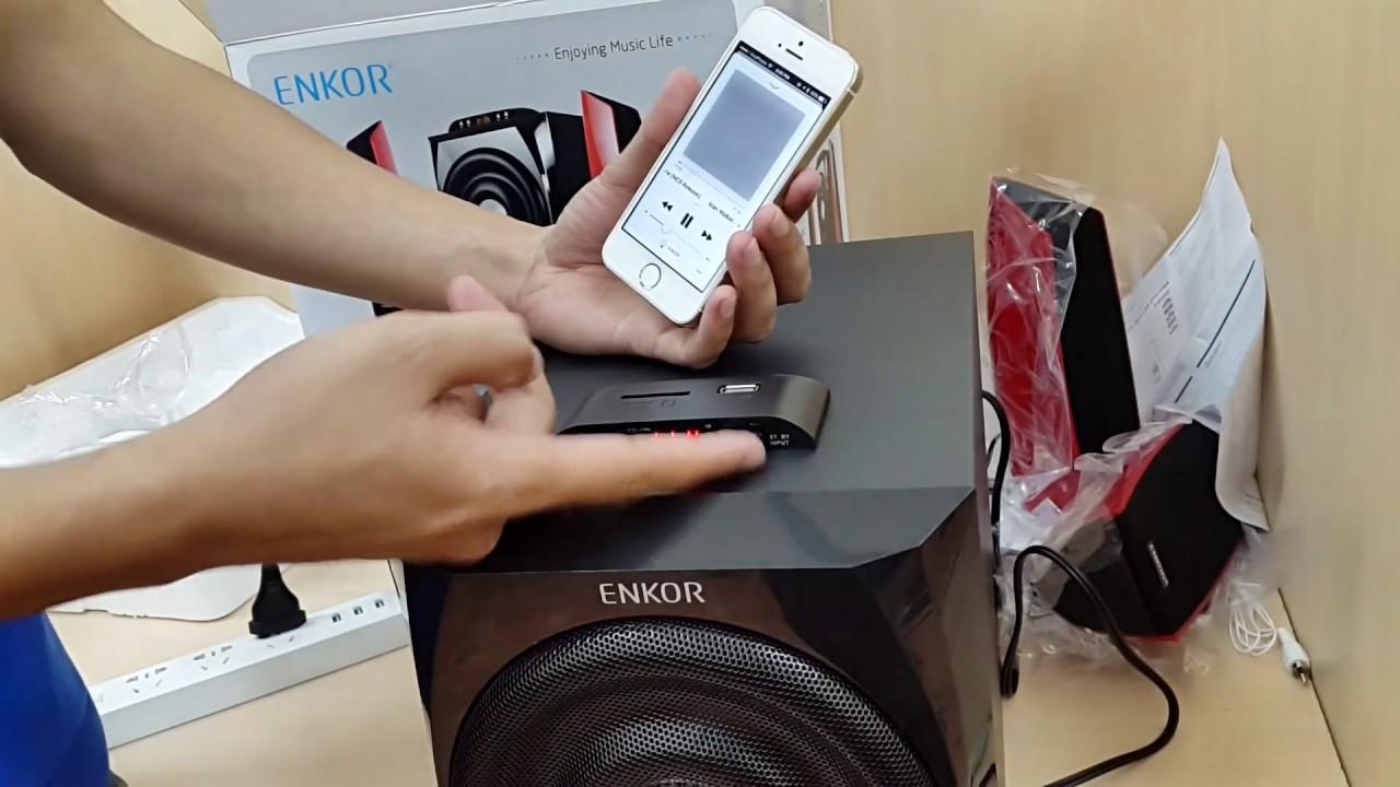 Mở hộp và trải nghiệm Loa vi tính Bluetooth Enkor F200