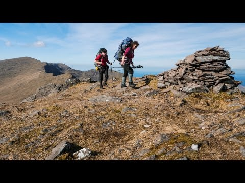 Trekking and Wild Camping in the Brandon Massif, Dingle Peninsula, County Kerry, Ireland