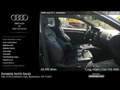 Used 2008 Audi A5 | Sunrise Auto Sales, Rosedale, NY