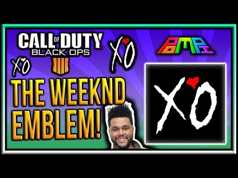 THE WEEKND XO EMBLEM: COD BO4 The Weeknd XO Logo Emblem Tutorial! Bo4 Emblem Tutorials! PomPi