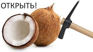 Как расколоть кокос? Как раскрыть кокос дома?
