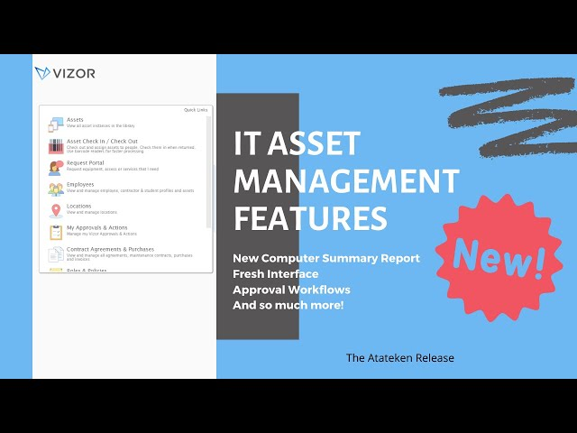 VIZOR Atateken Release - IT Asset Management Features