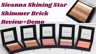 (हिंदी) Sivanna Shining Star Shimmer Brick Review (Shade 02).How to apply Highlighter on your face.