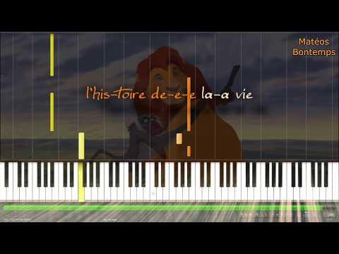 ☆ Le roi Lion ~ L'histoire de la vie ☆ (piano tuto karaoke)