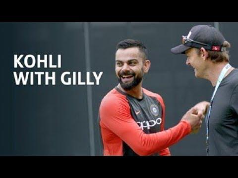 Kohli with Gilly - FOX CRICKET