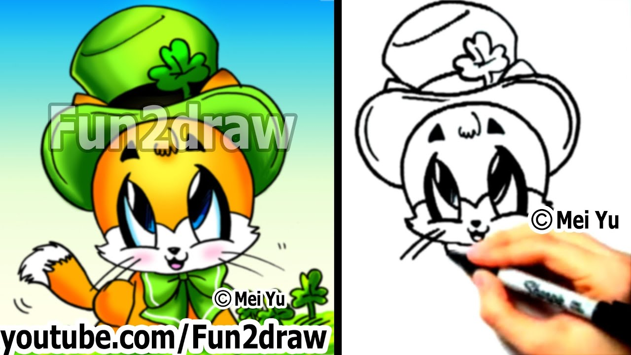 How to Draw a Cat - Cute Drawings - Draw Animals ...