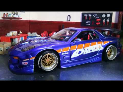 Unboxing Jada Toys Mazda RX7 APEX'i - Import Racer