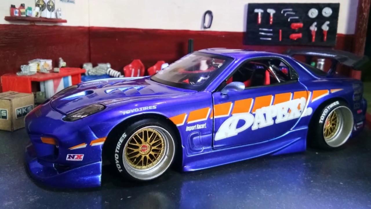 Unboxing Jada Toys Mazda RX7 APEX'i - Import Racer - YouTube