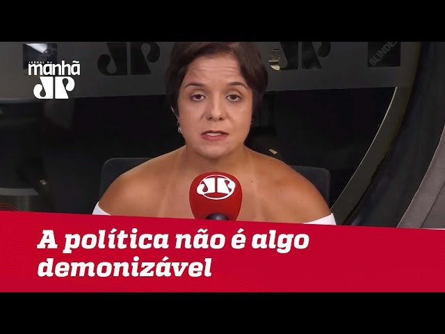 É importante que Bolsonaro entenda que a política não é algo demonizável | #VeraMagalhães