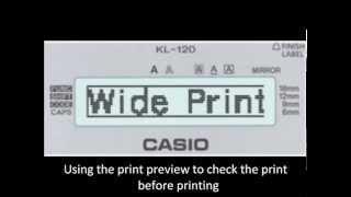 Lapel printer Casio | barcode | stiker | kl820 | kl7400| kl120 | XR9WE1