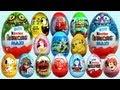 20 Surprise Eggs Kinder Surprise MAXI Mickey Mouse Cars 2 Minnie Mouse Spongebob