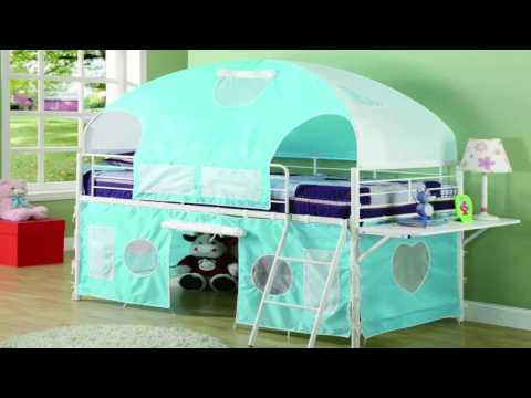 kids canopy bed curtains
