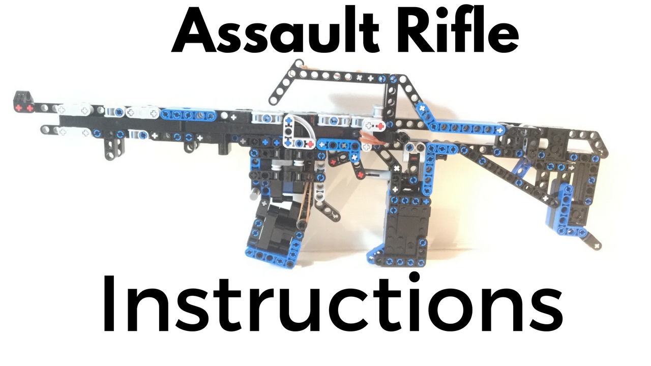 Lego Assault Rifle INSTRUCTIONS #1