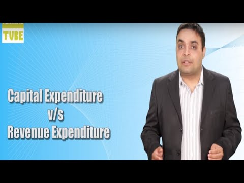 Difference Between Capital Expenditure and Revenue Expenditure | Vishal Thakkar