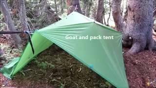 Pack Goat:  Camp setup (3):  Arrowhead Lake, Wyoming