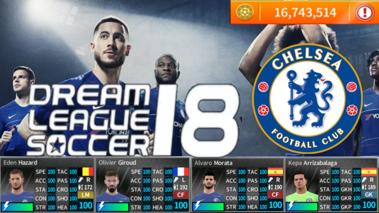 Chelsea 18-19 Dream League Soccer 2018-19 (Unlimited coins+ All player 100)  by S2KILL
