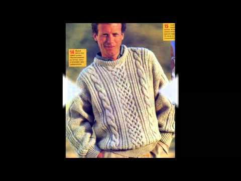 Связать свитер спицами для мужчины новые модели с описанием