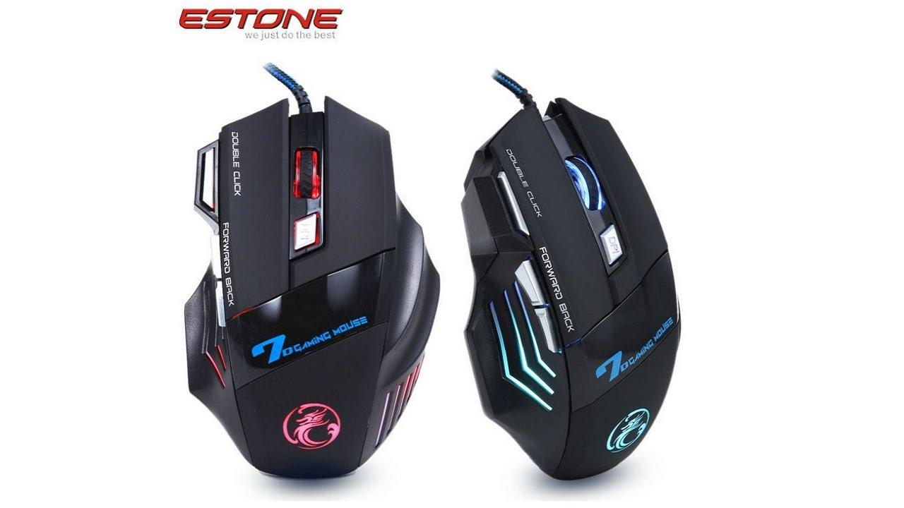 Игровая мышь за 6 Estone X7 7D Gaming mouse YouTube
